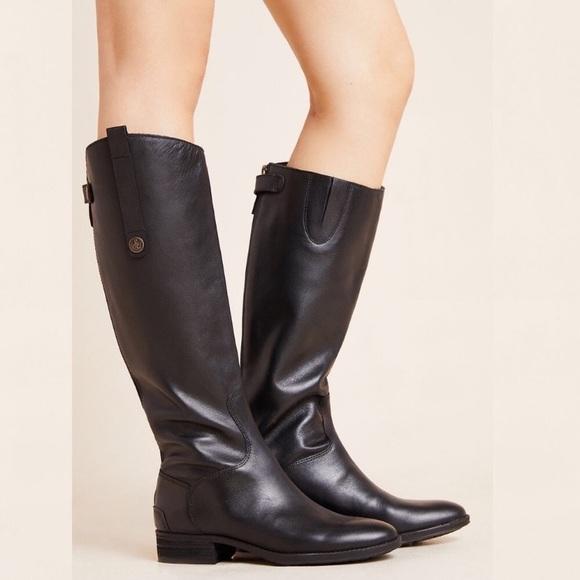 Sam Edelman Penny Leather Riding Boot Black Size 8